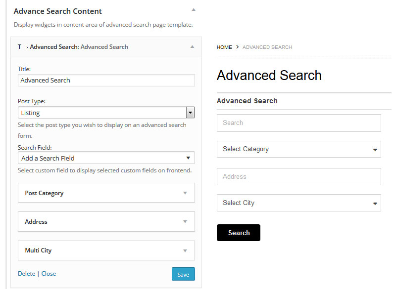 Extensive Search features