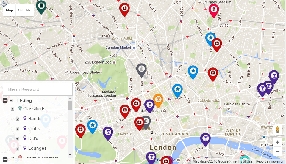 homepage map