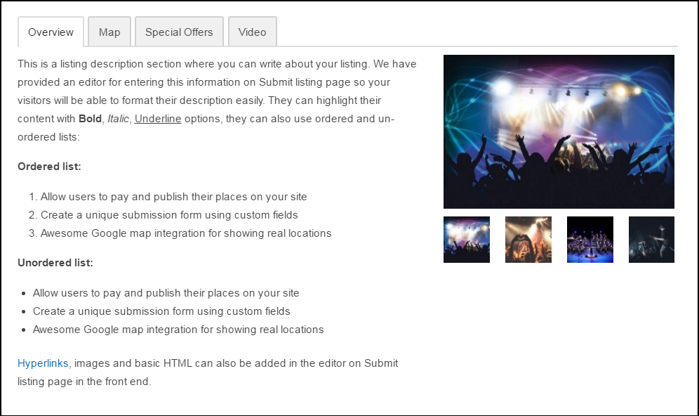 multi tab view
