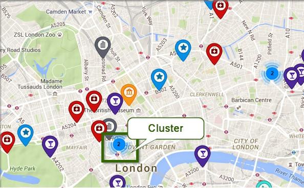 Marker clustering