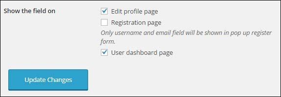 profile fields location