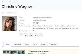 ListingPlus User Profile Page - ListingPlus Directory Template