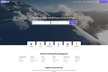 Listing Plus Directory Theme 2017 - Home Page