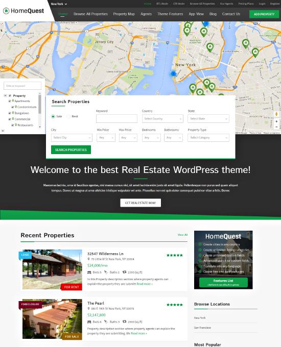 real estate theme for wordpress