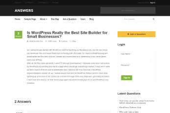 Questions & Answers WordPress Theme