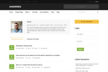 WP Theme For Questions And Answers