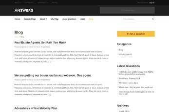 Answers WordPress Responsive Theme