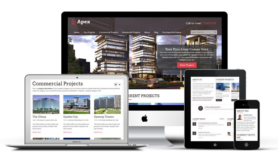 Apex responsive construction and building business WordPress theme