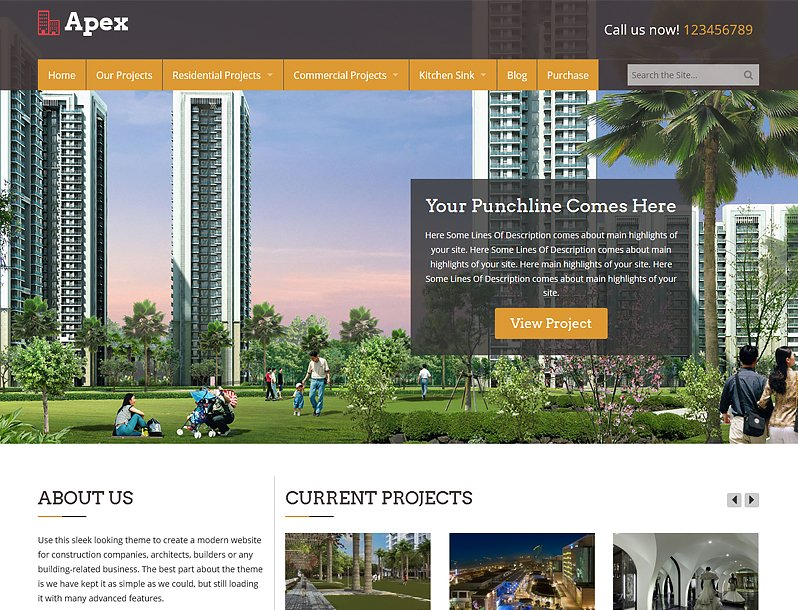 Apex WordPress Construction Theme