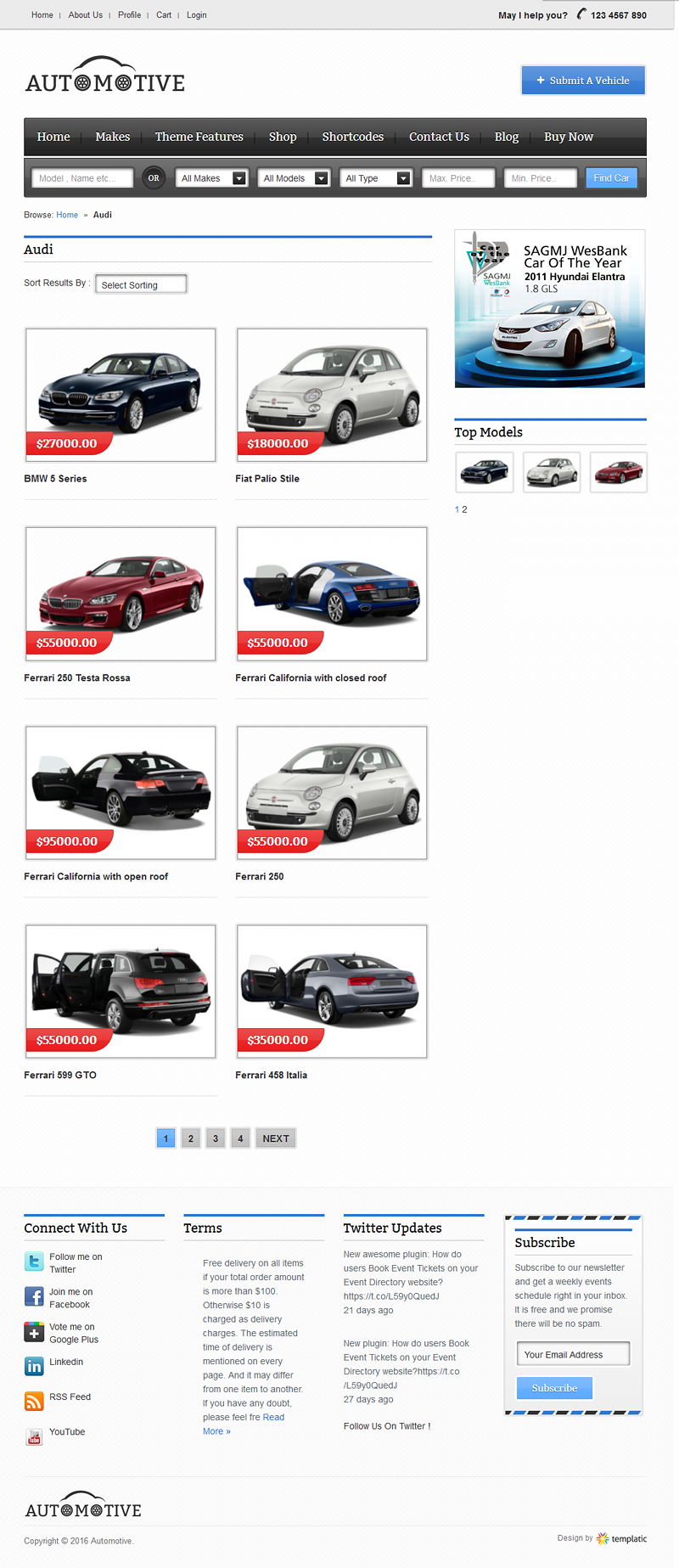 Automotive Car Classifieds WordPress Theme [2018] | Build Auto Website