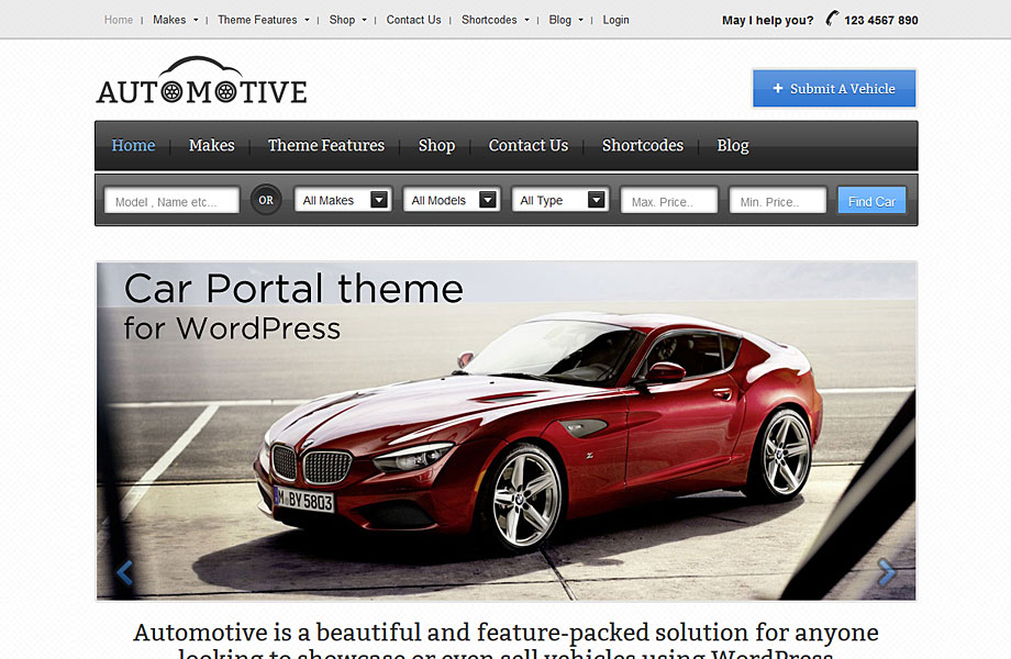 Car Classifieds WordPress Theme Automotive l Car Portal l ...