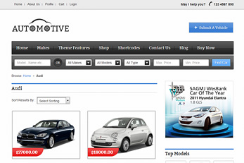Car Classifieds WordPress Theme