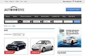 Car Classifieds WordPress Theme