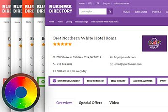Customized Color Scheme - Business Directory Theme