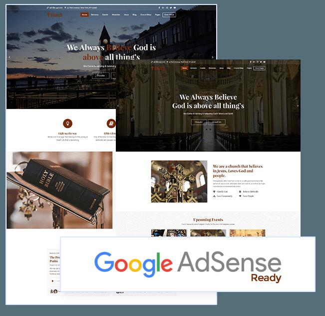 AdSense ready WordPress Church theme
