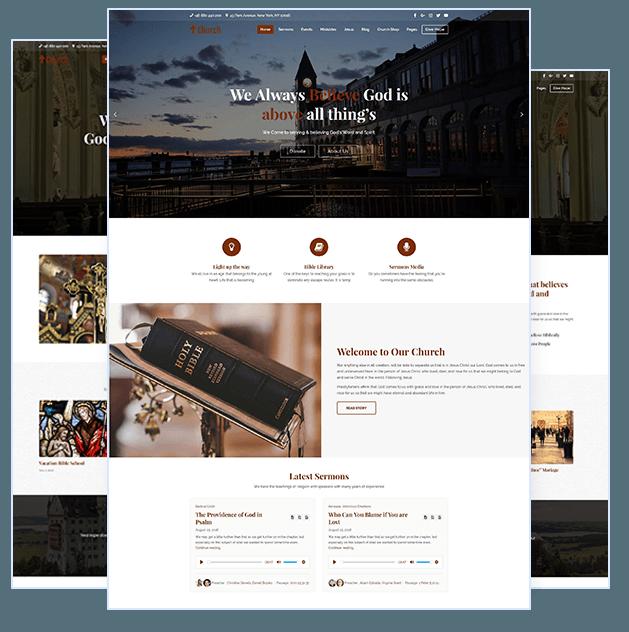 Create church website with WordPress