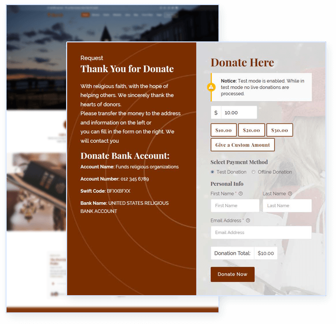 Online donation system
