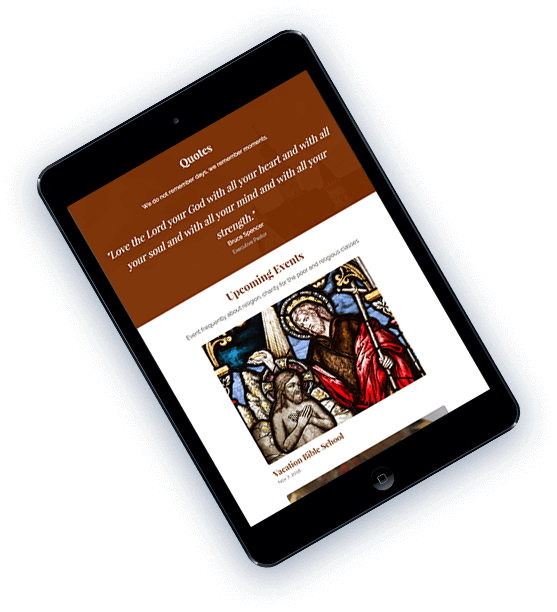 Church Mobile template