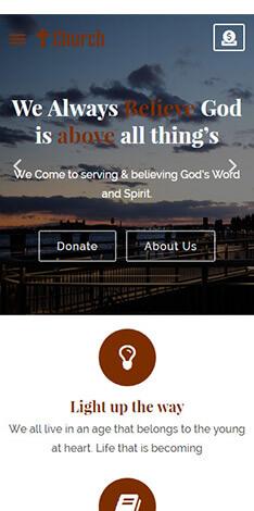 mobile friendly church theme design