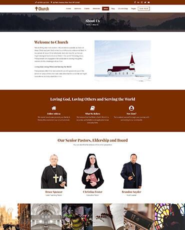 Sermons with WordPress church Theme