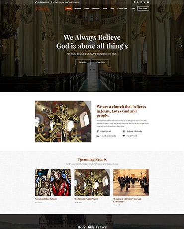wordpress Church theme- Homepage 2
