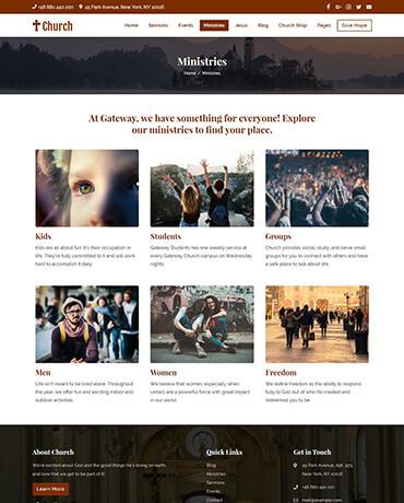 WordPress Theme for Church