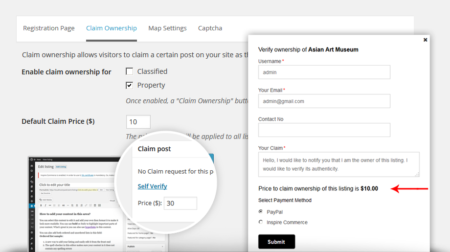 Paid Claims Directory Theme add-on