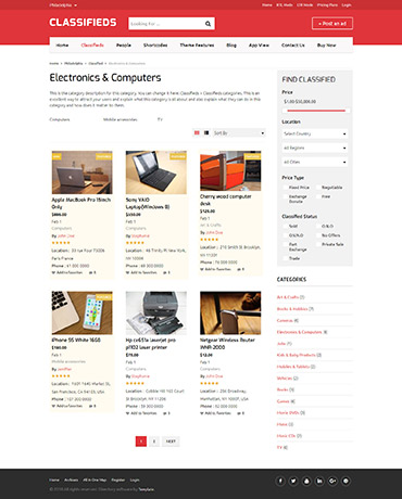 WordPress Theme classifieds