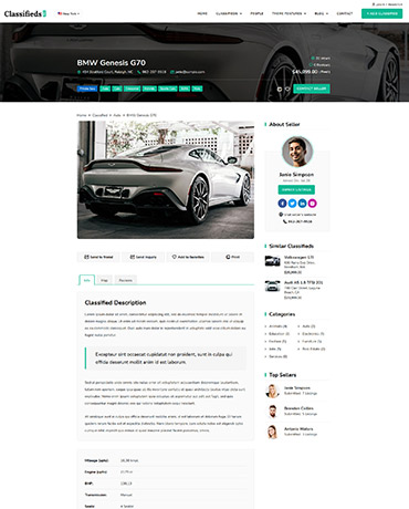Classifieds WordPress Template