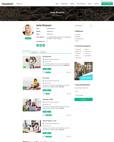 WordPress classifieds Theme
