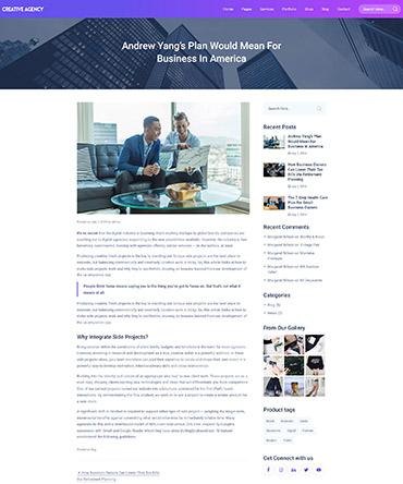 Agency theme WordPress