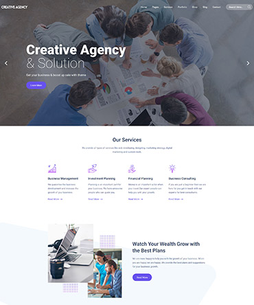 Agency theme homepage