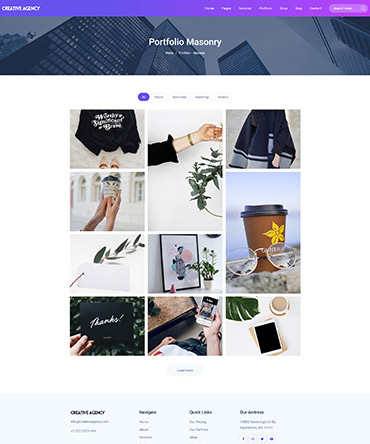 Agency WordPress theme- portfolio page