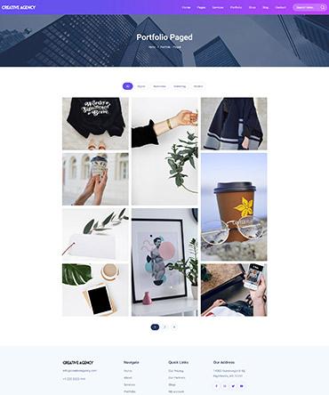 Agency theme- portfolio page