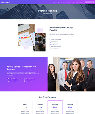 Agency theme- single service page