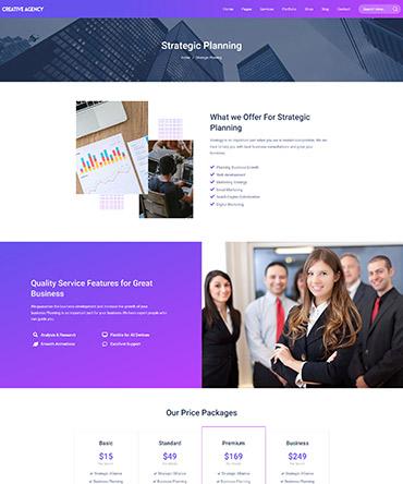 Agency theme- single service page