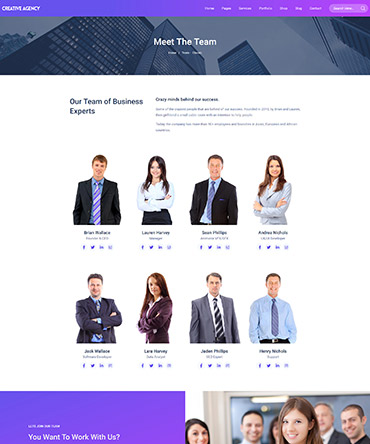 Agency theme- Team page