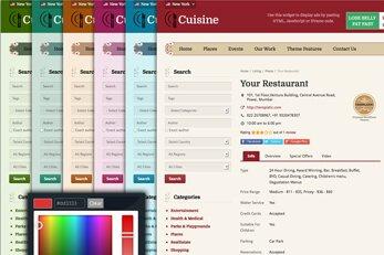 Cuisine Theme Customizer