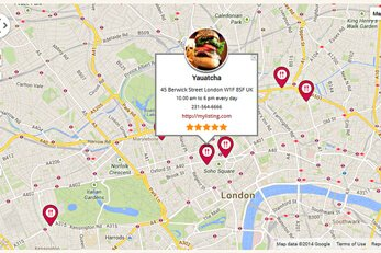 Food Reviews WP Template Map