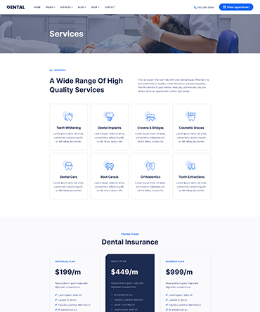 Agency WP theme homepage version 3