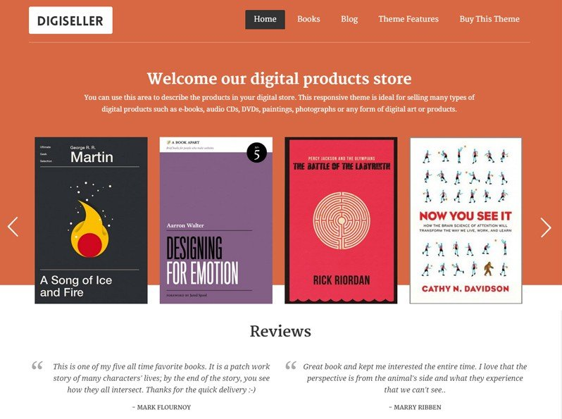 Digital Products WordPress Theme