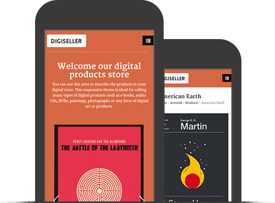 DigiSeller Online Store Ecommerce Theme - Mobile App View