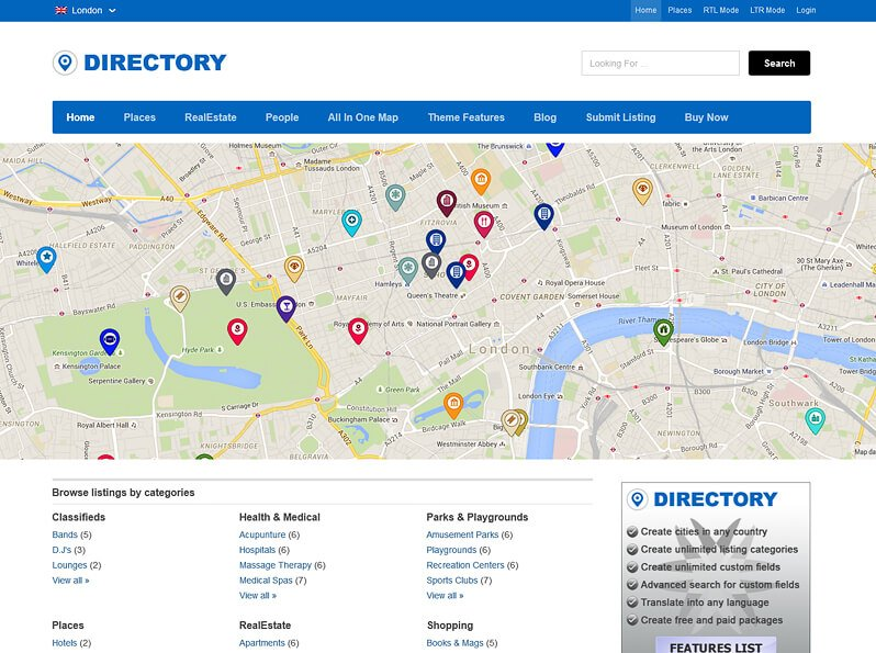 Best WordPress Directory Theme software (2018) - PHP script template