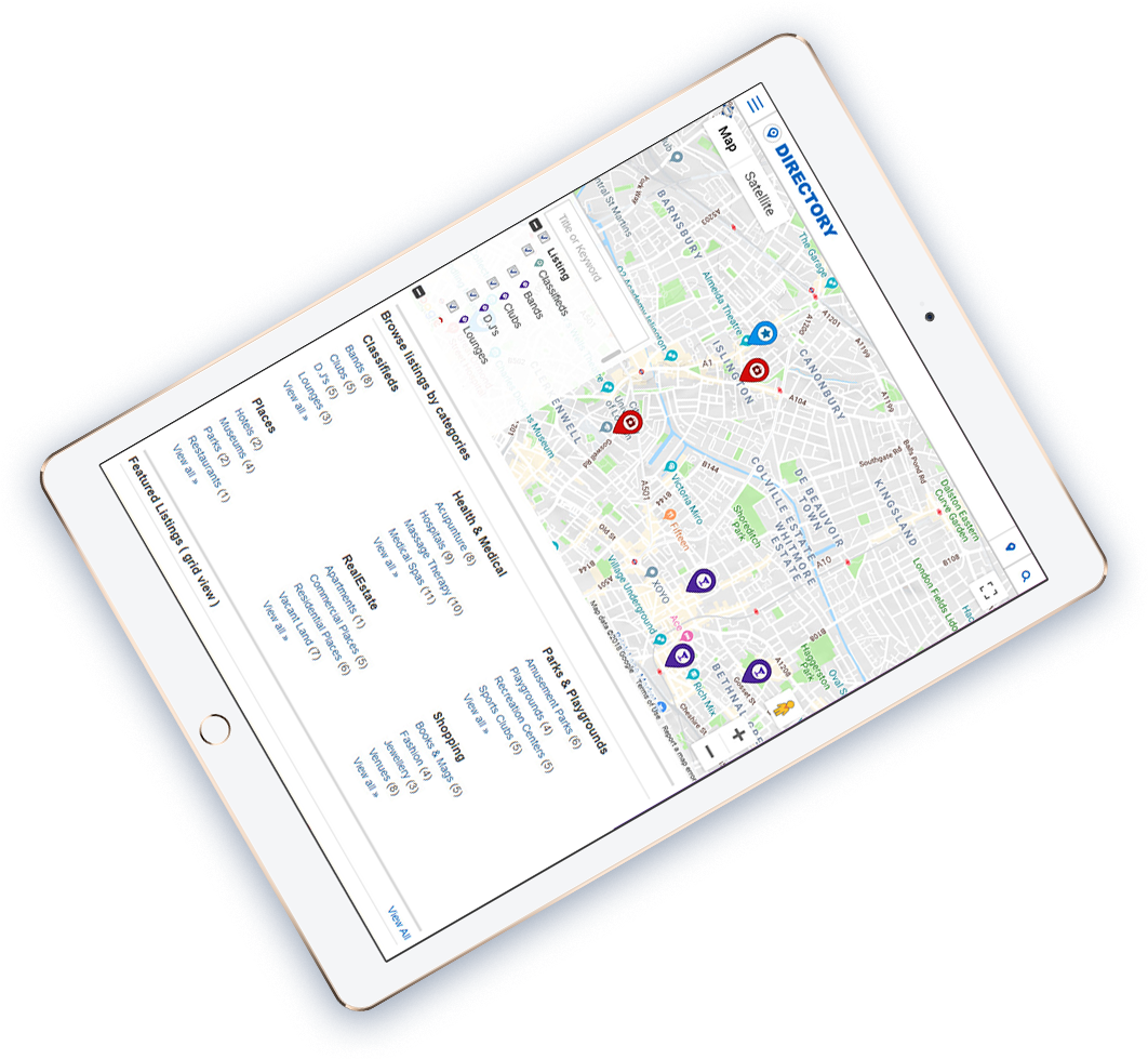 templatic directory mobile app view