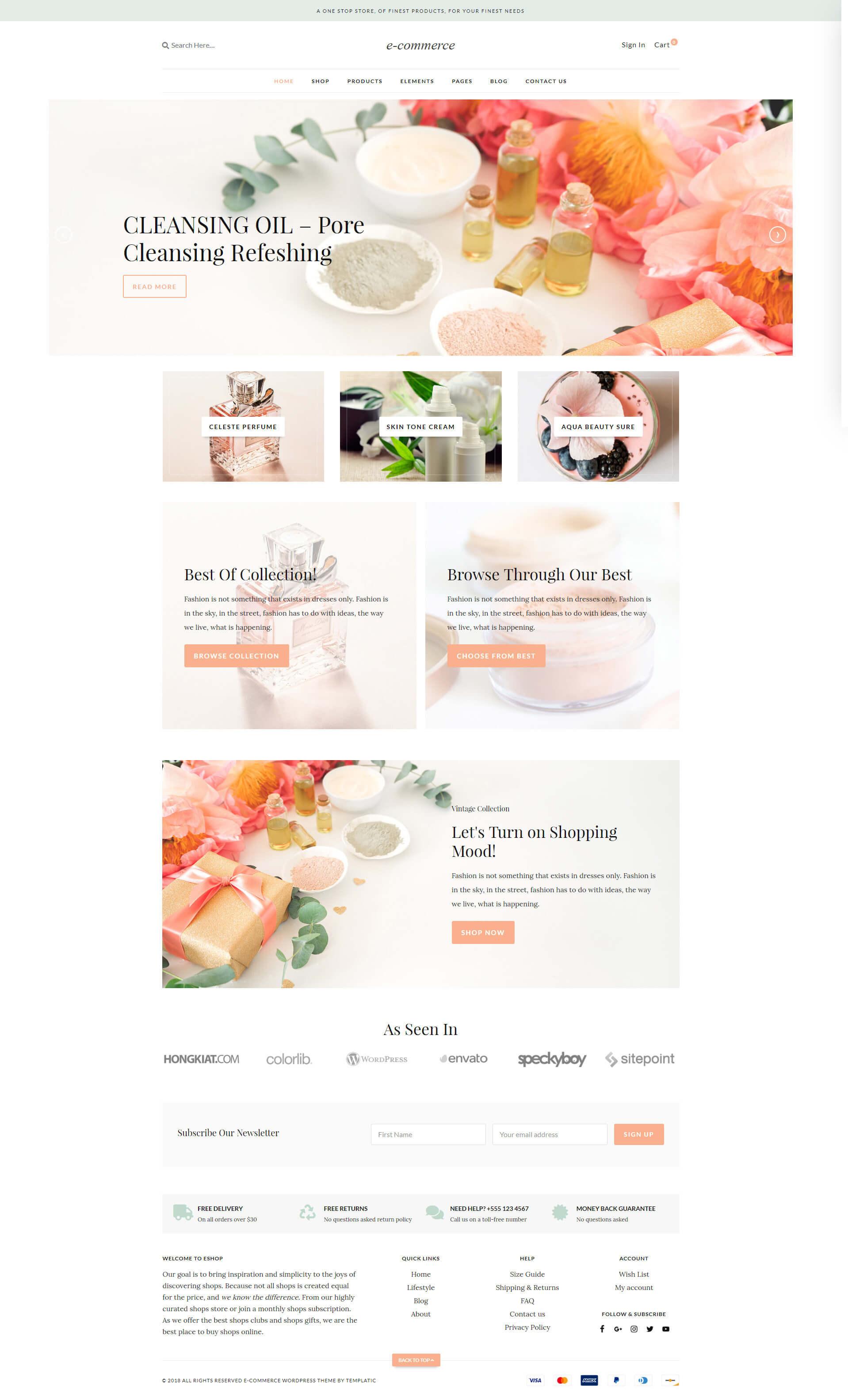 Wordpress eCommerce theme [2019] - Minimal WooCommerce theme