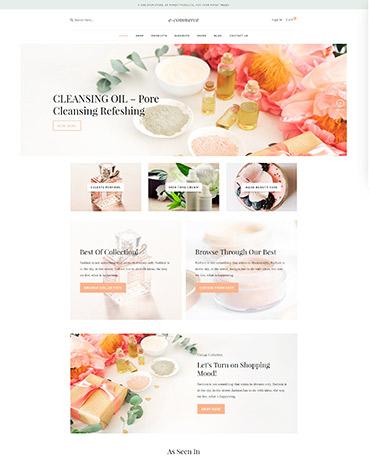 eCommerce homepage 2