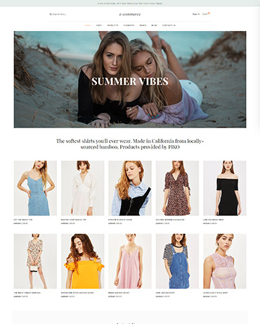 eCommerce theme homepage 4