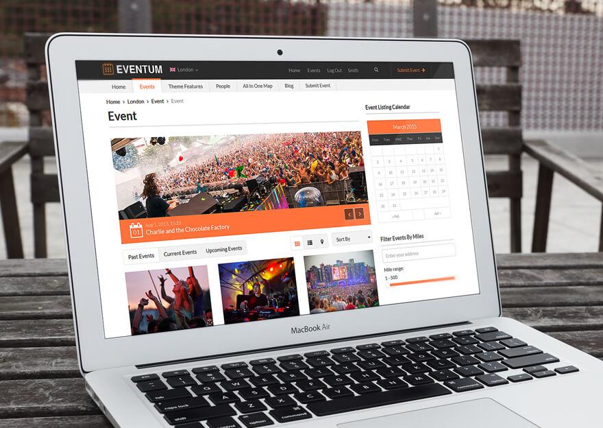 Events Portal Theme Eventum