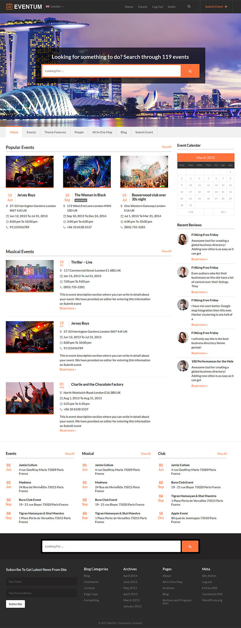 how to create an event theme
