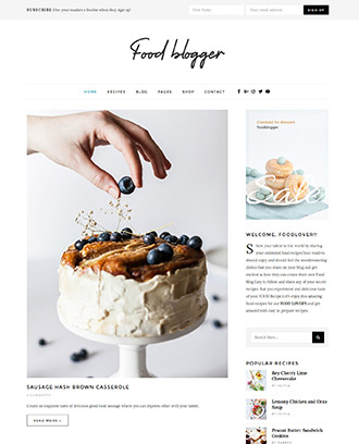 FoodBlogger WordPress Theme